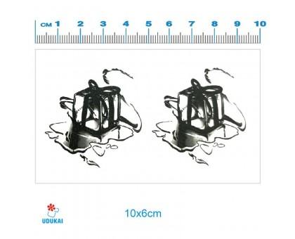 Laikina tatuiruotė Papuošalas ledukas 83053; 10x6cm