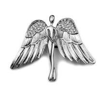 Segė Angelas sidabrinis; 4x5.2cm