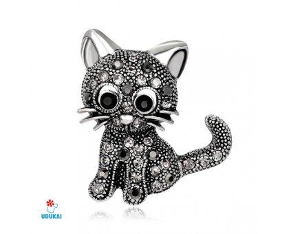 Segė Kačiukas sidabro spalvos