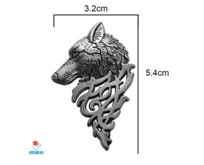 Segė Geležinis vilkas bronzos spalvos; 3.2x5.4cm