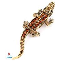 Segė Bronzinis Krokodilas-1410; 2x7.5cm