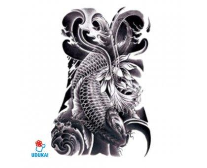 Laikina tatuiruotė Karpis-QSC003; 19x12cm