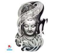 Laikina tatuiruotė Buda-QSC007; 19x12cm