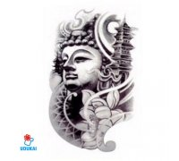 Laikina tatuiruotė Pagoda-QSC010; 19x12cm