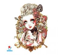 Laikina tatuiruotė Dama-QSC019; 19x12cm