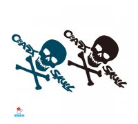 Laikina tatuiruotė Crazy Skull-WM008; 10x6cm
