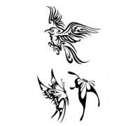 Laikina tatuiruotė Paukštis WM021; 10x6cm