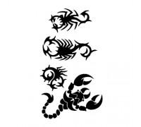 Laikina tatuiruotė Skorpionas 099
