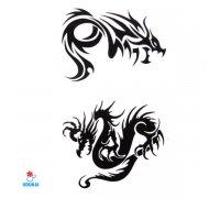 Laikina tatuiruotė Drakonai