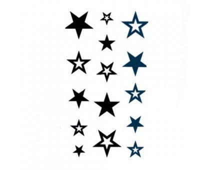 Laikina tatuiruotė Stars