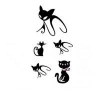 Laikina tatuiruotė Katės-WM155; 10x5cm