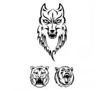Laikina tatuiruotė Vilkas 194