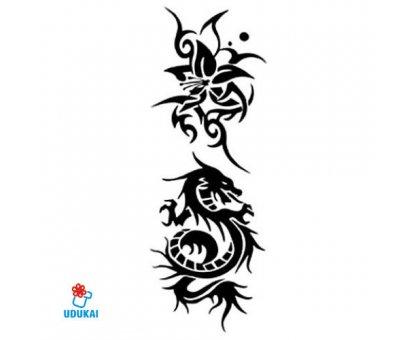 Laikina tatuiruotė Drakonas