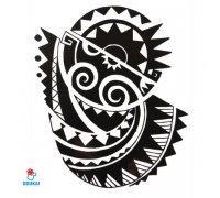 Laikina tatuiruotė Ornamentas Ink-HB513; 21x14cm