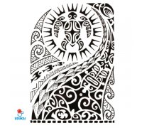 Laikina tatuiruotė Ornamentas Ink-HB523; 21x14cm