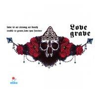Laikina tatuiruotė Love grave-BC003; 24x13cm