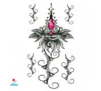 Laikina tatuiruotė Ornamentas-BC106; 24x13cm