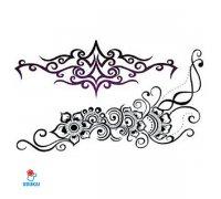Laikina tatuiruotė Ornamentas-QSC052; 19x12cm