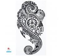 Laikina tatuiruotė Ornamentas Ink-HB399; 21x14cm