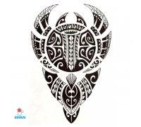 Laikina tatuiruotė Ornamentas Ink-HB829; 21x14cm