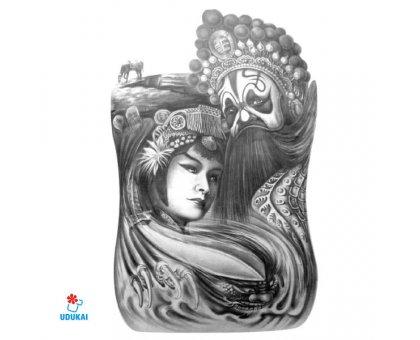Laikina tatuiruotė Dinastija-HC2007; 19x12cm