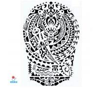 Laikina tatuiruotė Ornamentas-J522; 21x14cm