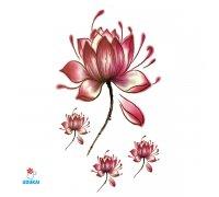 Laikina tatuiruotė Gėlės-JM05; 10x6cm