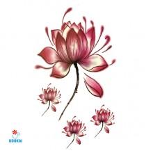 Laikina tatuiruotė Gėlės JM05; 10x6cm