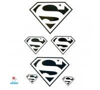 Laikina tatuiruotė Superman-JM009; 10x6cm