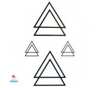 Laikina tatuiruotė Trikampiai-JM023; 10x6cm