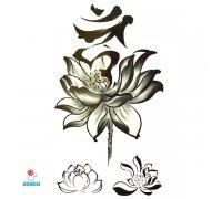 Laikina tatuiruotė Gėlės-JM026; 10x6cm