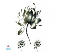Laikina tatuiruotė Gėlės-JM33; 10x6cm