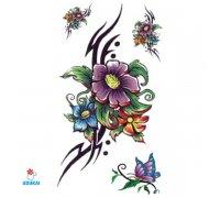 Laikina tatuiruotė Gėlės-JM56; 10x6cm