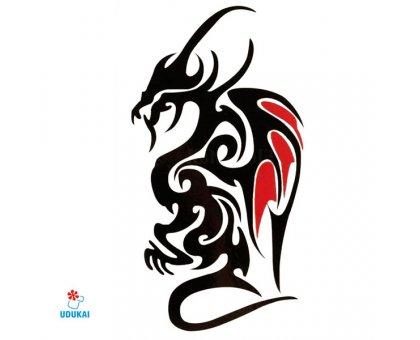 Laikina tatuiruotė Drakonas 041