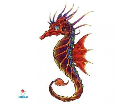 Laikina tatuiruotė Jūrų arkliukas 016