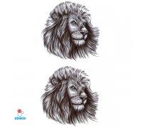 Laikina tatuiruotė Liūtas-LS020; 10x6cm