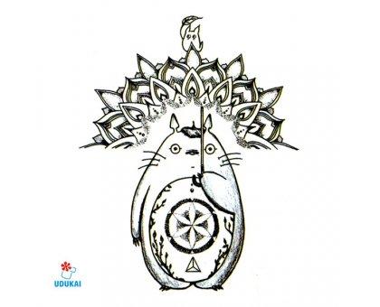 Laikina tatuiruotė Katinas-LS093; 10x6cm