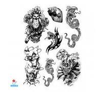 Laikina tatuiruotė Rinkinys-81; 16x12cm