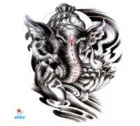 Laikina tatuiruotė Dramblys-QSA054; 21x14cm