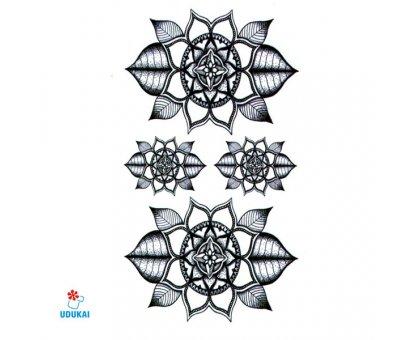 Laikina tatuiruotė Ornamentas-T002; 10x6cm