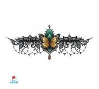 Laikina tatuiruotė Ornamentas-YSX006; 29x13cm