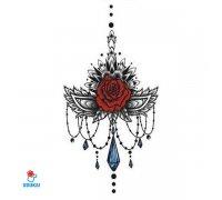 Laikina tatuiruotė Ornamentas-YSX016; 29x13cm