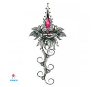 Laikina tatuiruotė Ornamentas-YSX018; 29x13cm