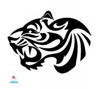 Laikina tatuiruotė Tigras-AA30; 10x6cm