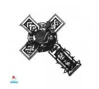 Laikina tatuiruotė Kryžius-AE36; 6x6cm
