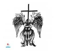 Laikina tatuiruotė Kryžius-AE39; 6x6cm