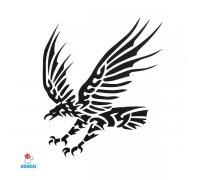 Laikina tatuiruotė Erelis-AE40; 6x6cm