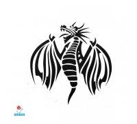 Laikina tatuiruotė Drakonas-AE43; 6x6cm