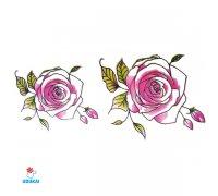 Laikina tatuiruotė Rožė-B14; 10x6cm