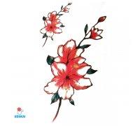 Laikina tatuiruotė Gėlės-B16; 10x6cm